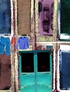 Old Street Mixed Media Posters - Laundry Day Poster by Mimo Krouzian