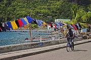 St Photos - Laundry Drying- St Lucia. by Chester Williams