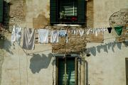 Laundry Photo Posters - Laundry Hanging On A Line In Venice Poster by Todd Gipstein