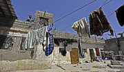Qalat Posters - Laundry Hangs In The Courtyard Poster by Stocktrek Images