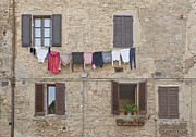 Hill Town Posters - Laundry Out to Dry Poster by Rob Tilley