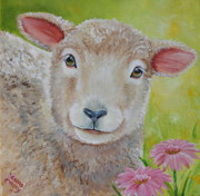 Lamb Paintings - LauraLye by Laura Carey