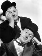 Bowtie Acrylic Prints - Laurel And Hardy, 1939 Acrylic Print by Granger