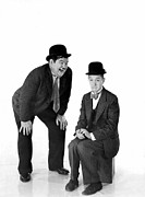 Knees Framed Prints - Laurel And Hardy Framed Print by Everett