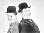 Hardy Drawings - Laurel and Hardy by Hajo Martijn