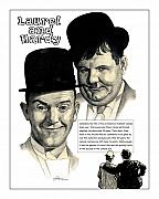 Hardy Drawings - Laurel and Hardy by Harold Shull