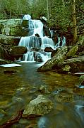 Gsmnp Prints - Laurel Falls  Great Smoky Mtns. National Park Print by Alan Lenk
