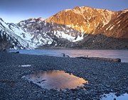 Convict Lake Art - Laurel Mountain Dusted With Snow by Tim Fitzharris