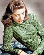 Bacall Framed Prints - Lauren Bacall, Ca. 1946 Framed Print by Everett