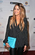 Clutch Bag Framed Prints - Lauren Conrad Wearing A Rebecca Minkoff Framed Print by Everett