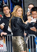 Gold Jacket Posters - Lauren Conrad Wearing Kate Moss Poster by Everett