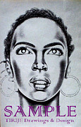Murals Drawings - Lauren Hill by Rick Hill
