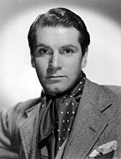 Olivier Framed Prints - Laurence Olivier, Portrait, With Ascot Framed Print by Everett