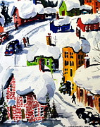 Quebec Paintings - Laurentian Snows by Wilfred McOstrich