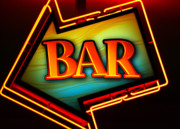 Night Cafe Photo Prints - Laurettes Bar Print by Barbara Teller