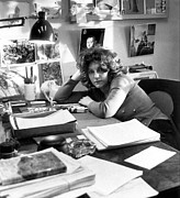 Desk Photo Prints - Laurie Colwin, Author Of A First Print by Everett