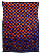 Fabric Quilt Tapestries - Textiles Posters - Lava and Water Poster by Mildred Thibodeaux