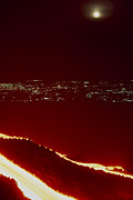 Effusive Art - Lava Flow At Night by Dr Juerg Alean
