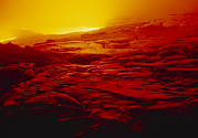 Lava Flow Prints - Lava Flow From Kilauea Volcano Print by G. Brad Lewis