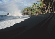 Hawai Prints - Lava Flow On Kaima Beach, Hawaii Print by G. Brad Lewis