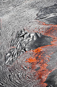 Flowing Lava Posters - Lava Flowing Out Of Active Lava Lake Poster by Richard Roscoe