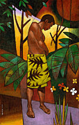 Male Figure Prints - Lavalava Print by Douglas Simonson