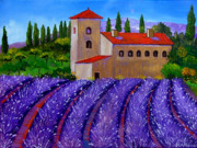 Lavander Paintings - Lavander delight by Inna Montano