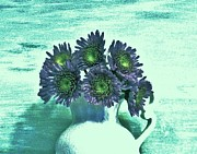Pitcher Digital Art - Lavendar Blue Bouquet by Marsha Heiken