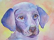 Puppies Painting Originals - Lavendar Lab by Deb Magelssen