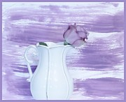 Pitcher Digital Art - Lavendar Rose by Marsha Heiken