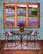 Bistro Framed Prints - Lavender Bistro Framed Print by Mary Ogle