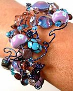 Fun Jewelry - Lavender Blue Bracelet by Lynette Fast