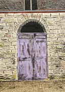 Robert Handler Prints - Lavender Door-France Print by Robert Handler