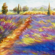Chris Brandley Paintings - Lavender Fields by Chris Brandley