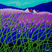 Violet Prints Prints - Lavender Hill Print by John  Nolan