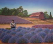Purple Flowers Pastels - Lavender Hollow by Sandra Lynn