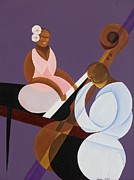 Acrylic  On Canvas Paintings - Lavender Jazz by Kaaria Mucherera