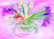 Friendly Digital Art - Lavender Orchids Painting by Don  Wright