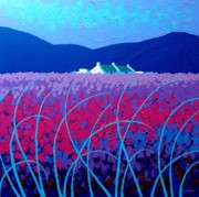 Ireland Paintings - Lavender Scape by John  Nolan