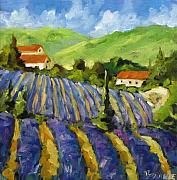 Nature Scene Paintings - Lavender Scene by Richard T Pranke