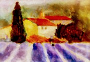 Cortijo Prints - Lavender time Print by Valerie Anne Kelly