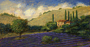 Villa Paintings - Lavender Villa by Curt Snarr