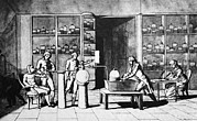 Respiration Framed Prints - Lavoisier Respiration Experiment, 1770s Framed Print by