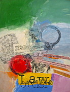 Finger Mixed Media Prints - Law And Order Print by Cliff Spohn