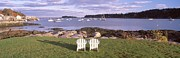 "Tourist Resort Posters - ""lawn Chairs At Lobster Village, Tenants Harbor, Maine"" Poster by VisionsofAmerica/Joe Sohm"