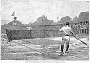 Racket Framed Prints - Lawn Tennis, 1881 Framed Print by Granger