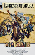 1960s Poster Art Posters - Lawrence Of Arabia, Top Peter Otoole Poster by Everett