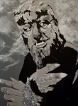 Wolfman Prints - Lawrence Talbot Wolf Man Print by Christopher  Chouinard