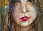 Portrait Paintings - Lay lady Lay by Paul Lovering