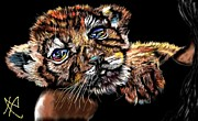 Bigcat Prints - Lay Your Troubles On My Shoulder Put Your Worries In My Pocket  Print by Herbert Renard